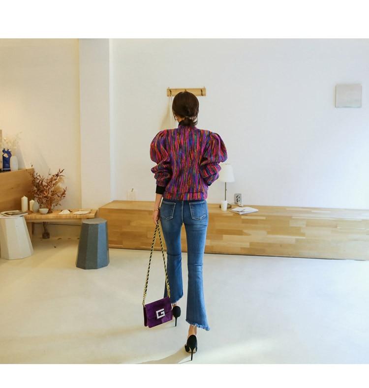 Runway Designer Chromatic Cashmere Women Jacket Coat 2019 Spring Single Breasted Long Sleeve Casual Slim Outerwear Runway Designer Chromatic Cashmere Women Jacket Coat 2019 Spring Single Breasted Long Sleeve Casual Slim Outerwear