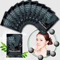 50pcs/lot black mask PILATEN Tearing style Deep Cleansing purifying peel off Black head Close pores facial mask head pore strips