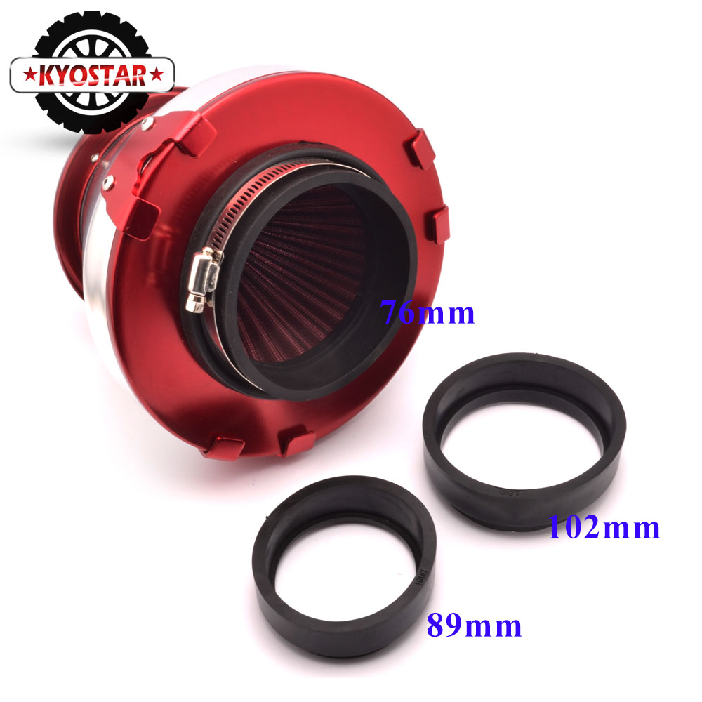 "RED 4 Inches 4/"" Inlet 102mm Cold Air Intake Cone TRUCK FILTER For Cadillac"