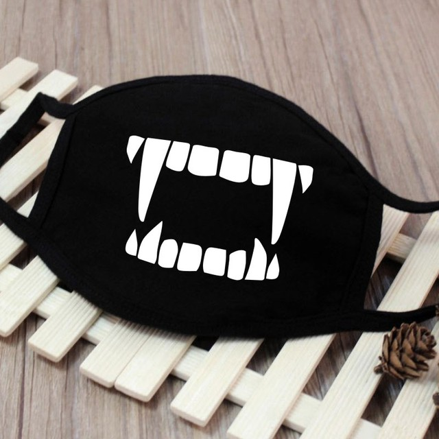 1PC Cartoon Face Mask Funny Teeth Pattern Unisex Cute Anti-bacterial Dust Winter Cubre Bocas Hombre Mouth Mask High Quality 5