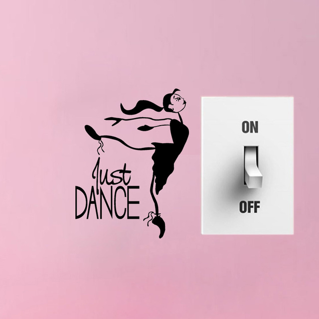 just dance vinyl switch sticker ballerina decal removable home
