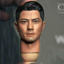 цена на Head sculpt 1/6 Scale male man boy headplay 1/6 Scale Asian Actor Aaron Kwok Male Head Sculpt W/neck Fit 12