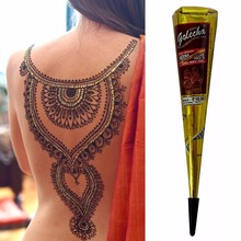 Alta calidad tubo de tatuaje para cuerpo Pasta de tatuaje Temporal de Henna Negro india Cono pintura Del Arte de Cuerpo del producto 25g