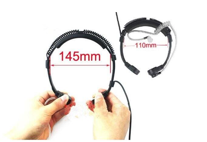 Flexible Throat Mic Microphone Extendable Earpiece Headset For Motorola Two Way Radio APX6000 DP4601 XiR P8268 8260 DP3401