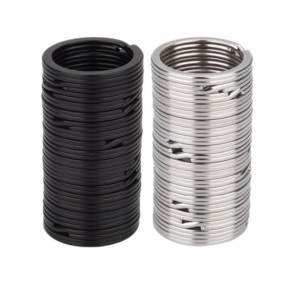 100 peças Chave Chaveiro Anéis Anéis Anéis de Divisão de Metal Plana 32 25mm mm