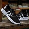 2016 sapatas dos esportes dos homens famoso designer da marca de verão dos homens malha respirável sapatos com cordões sapatos corredor