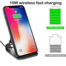 10W Qi Wireless Charger For samsung iphone 8 XS NOKIA Lumia 1520 chargeur for huawei mate X 20 pro quick Charging Phone Holder