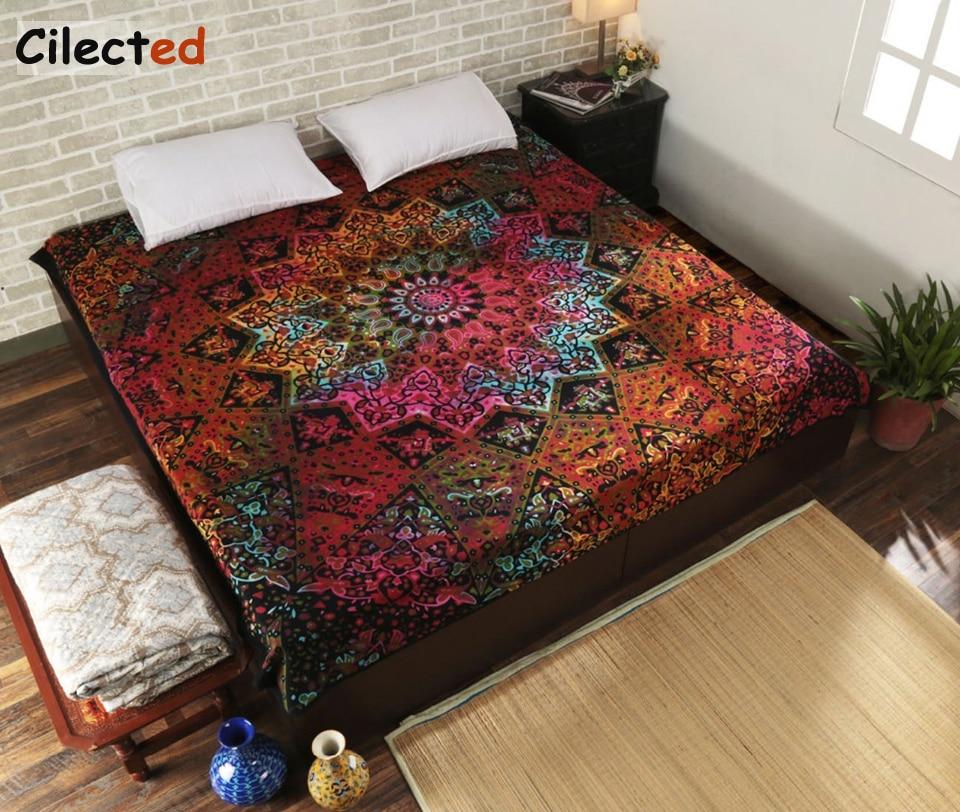 Indian Mandala Tapestry Hippie Home Decorative Wall Hanging Tapestries Boho Beach Towel Yoga Mat Bedspread Table Cloth 200x148cm