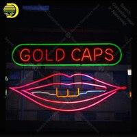 Neon Teken voor Gold Caps neon Light Teken Beer Pub Teken real glazen Buizen Handgemaakte Store Display Neon borden Fil gas custom neon-in Neon Lampen & Buizen van Licht & verlichting op