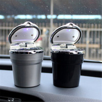 Car Styling Car Cigarette Ashtray With LED Lamp For DACIA SANDERO STEPWAY Dokker Logan Duster Lodgy