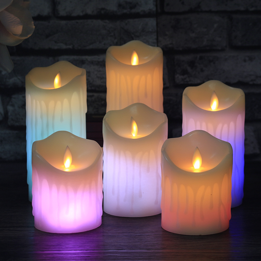 Remote Control Color Change LED Paraffin Wax Candles