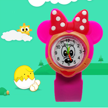 Hello kitty Children watch for girls women Minnie Silicone Tape patted table students love child kids watches baby gift Clock
