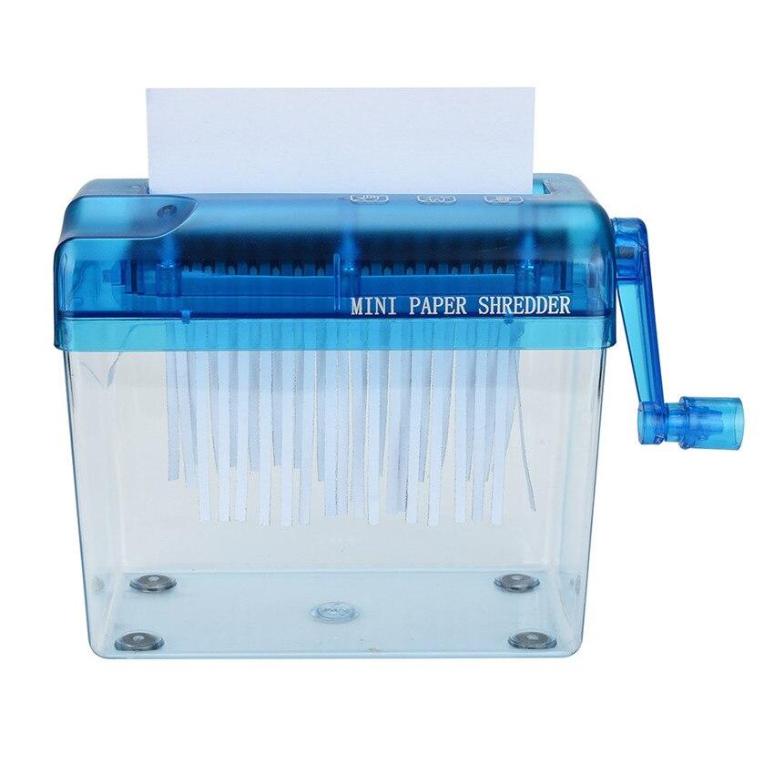 2018 Household Mini Manual Paper Shredder Hand Simple Paper Shredder Random Color home suppliers #0412