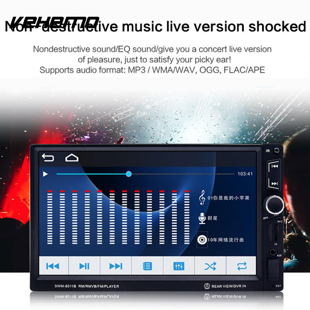 Vehemo Car MP5 7 Inches MP5 Player Hands-Free Multi-Function Universal For Nissan Toyota Mazda Ford Focus 2 3 Honda VW Golf Audi car floor mats covers free shipping 5d for toyota honda for nissan hyundai buick for ford audi benz for bmw car etc styling