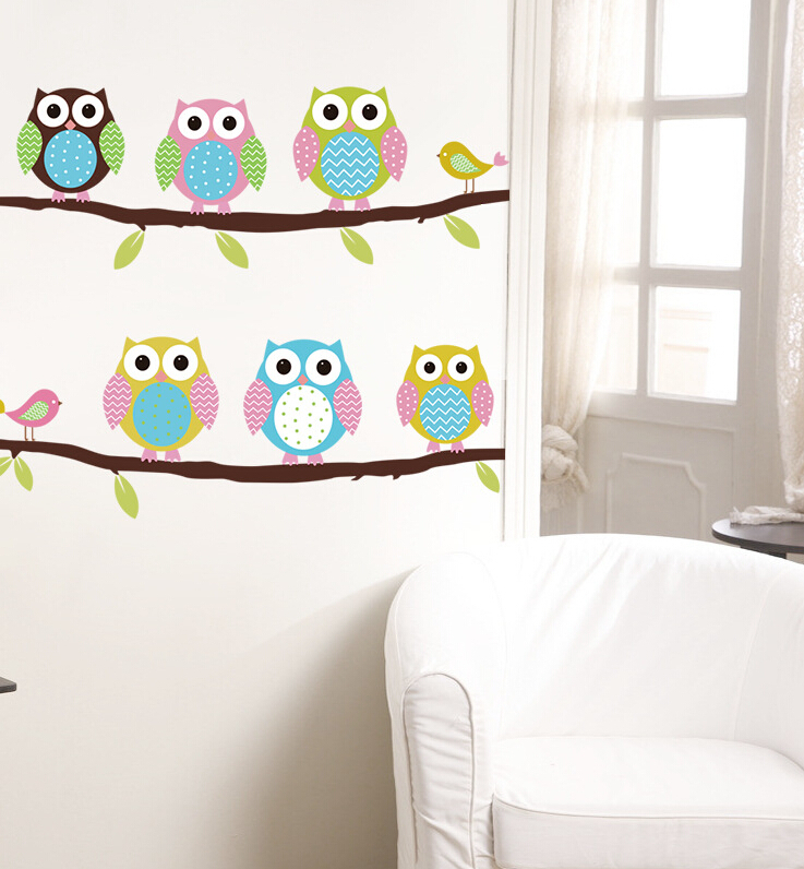 Aliexpress com   Buy 2015 children s baby room bedroom wall stickers  cartoon backdrop decorative stickers cute owl wallpaper from Reliable  stickers retail. Aliexpress com   Buy 2015 children s baby room bedroom wall