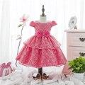 [Лаки и Лаки] свадебное платье новорожденных девочек платья партии бал grwn укладывать платья для детей красивый Цветок девушка