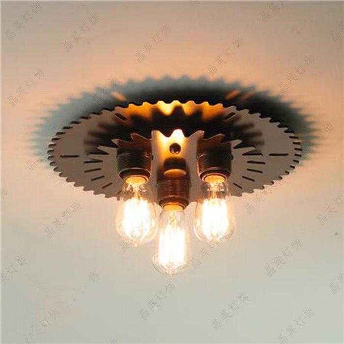 Vintage loft steampunk punk unique metal iron ceiling lights Ceiling Lamps home decor bar counter light fixtures