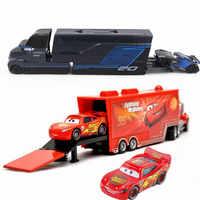 Дисней Pixar Тачки 2 3 игрушка Молния Маккуин Джексон шторм Мак UncleTruck King 1:55 литой металлический автомобиль игрушка детский подарок на день рожд...
