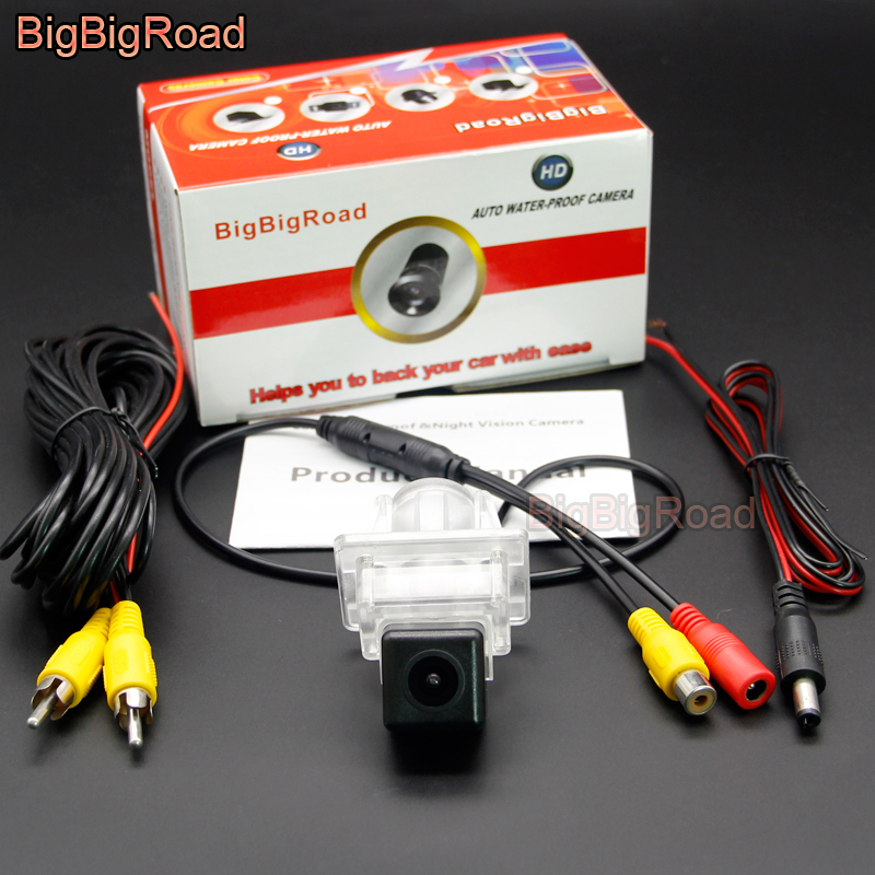 BigBigRoad Car Rear View Parking Camera For Mercedes <font><b>Benz</b></font> <font><b>SLK</b></font> Class MB <font><b>R172</b></font> / S Class W221 S550 S600 S63 S65 CLS W218 2011-2017 image