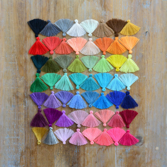 Making-Supplies-Accessory Jewelry Tassel-Cloth 30mm Your-Colors Small 30pcs Pick Long