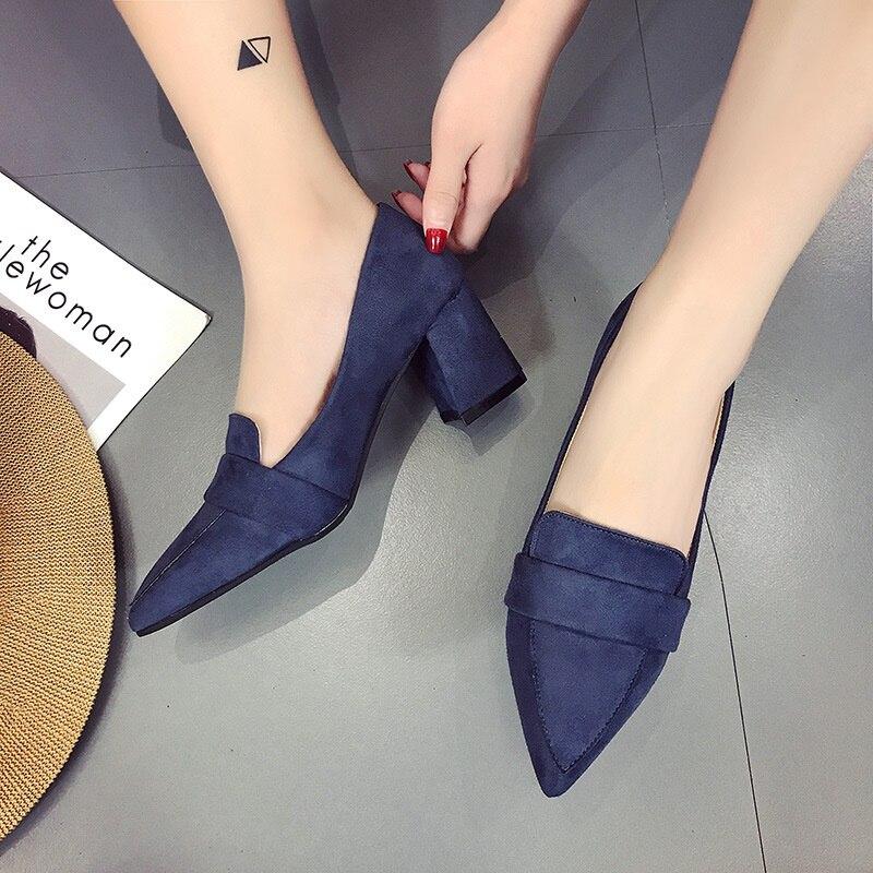 De Hauts A Femmes Des Professionnelle 2018 Épais Travail Avec Simples Sauvage Automne coréen Talons 1 Chaussures Mode 2 Noir Nouvelle pYpAIqWg8