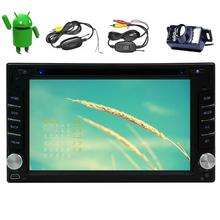 Camera+Android 6.0 Quad Core Car pc DVD Player Capacitive screen Car Stereo Radio Receiver GPS Navigation WiFi Mirrorlink/1080P