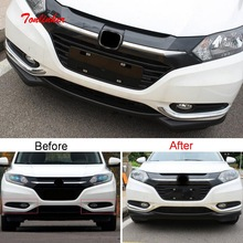 2 PCS Car NEW car Styling ABS Chrome Front fog lamps decorative light strip fit for HONDA VEZEL XRV parts accessories