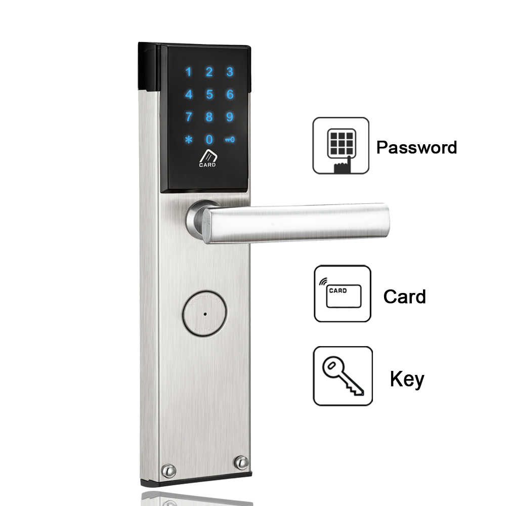 Electronic Digital Door Lock Touch Keypad Combination RFID Key Card Password Door Lock For Home Office