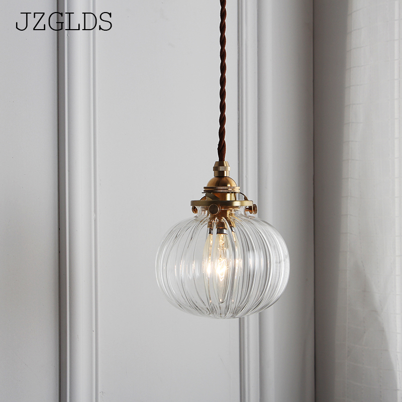 Loft american iron vintage small copper umbrella lamps pendant light single crystal glass pendant light ark light rustic glass pendant antique american style light brief vintage reminisced classical iron glass bell pendant lamp