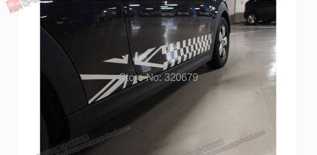 Autocollants et autocollants pour voiture en cuivre | Autocollants et autocollants pour portes latérales graphiques de lunion jack Flag, en vinyle, adaptés à tous les MINI Cooper