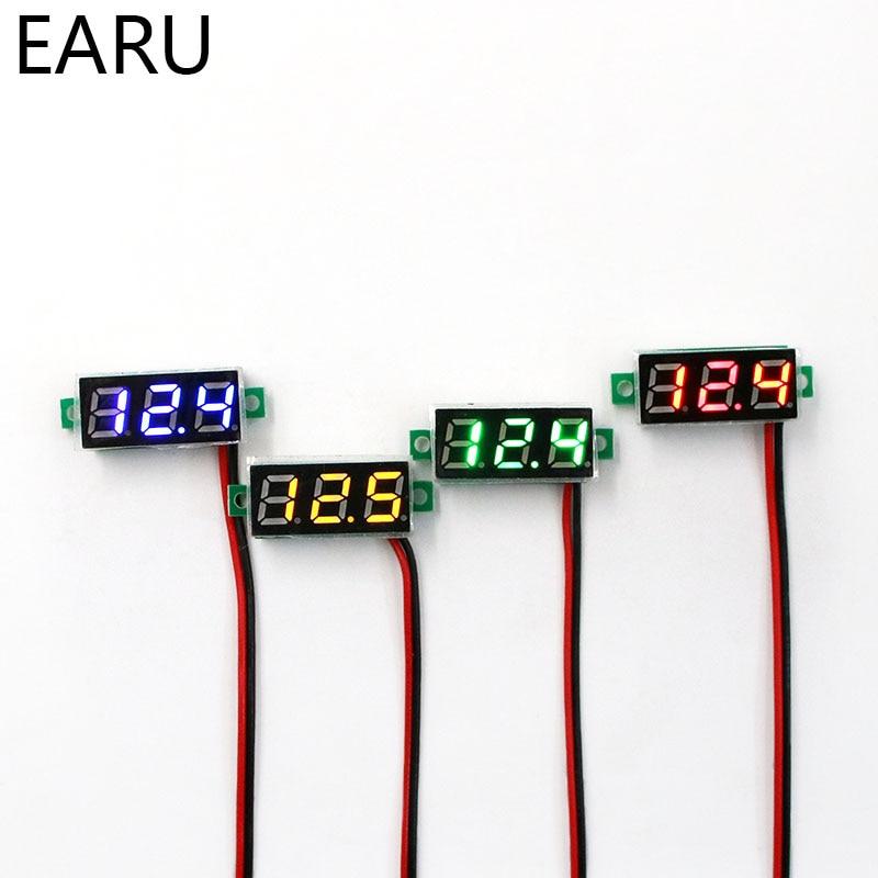 0.28 Inch DC LED Digital Voltmeter 0-100V Voltage Meter Auto Car Mobile Power Voltage Tester Detector 12V Red Green Blue Yellow