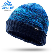 AONIJIE Winter Knitted Windproof Running Caps Outdoor Sport Cycling Skiing Jogging Cap For Men Women