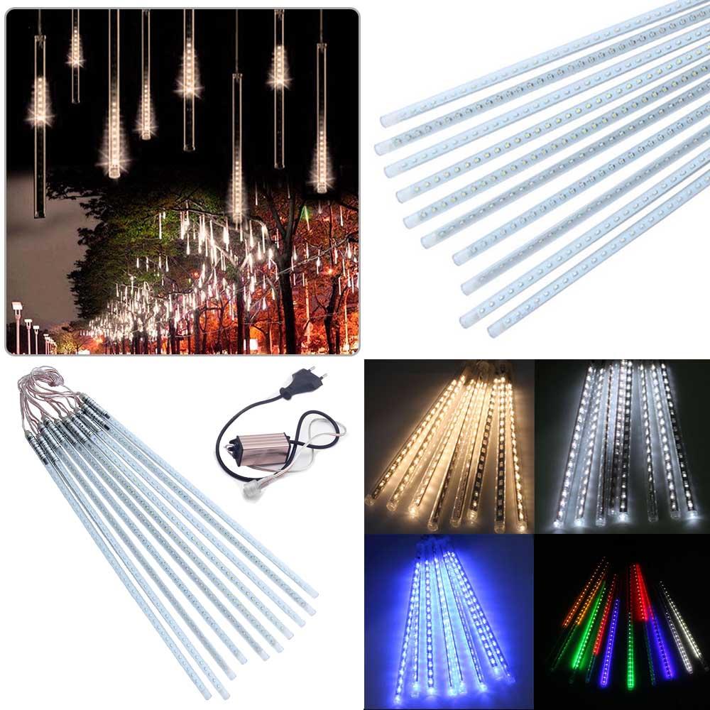Multi color 50CM SMD2835 Meteor Shower Rain Tubes AC100 240V LED Christmas Lights Wedding Party Garden Xmas String Light Outdoor