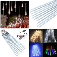 Nuevo Multi-color 50CM SMD2835 tubos de lluvia de meteoros AC100-240V LED luces de Navidad boda fiesta jardín Navidad Cadena de luz al aire libre