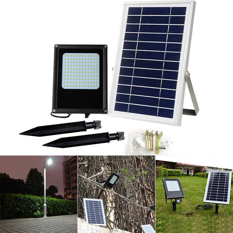 1 Pcs Waterproof LED Flood Light Spotlight Outdoor Solar Lawn Garden Lamps CLH@81 Pcs Waterproof LED Flood Light Spotlight Outdoor Solar Lawn Garden Lamps CLH@8