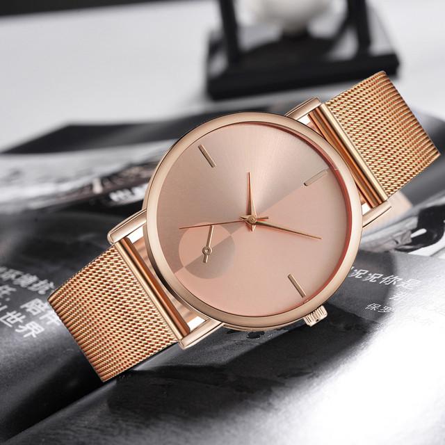 Brand Women Watches Casual Quartz Stainless Steel Band Newv Strap Watch Analog Wrist Watch