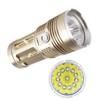 36000 lm t6 12x led 손전등 5 모드 방수 야간 조명 울트라 브라이트 토치 4x18650 배터리 캠핑 램프