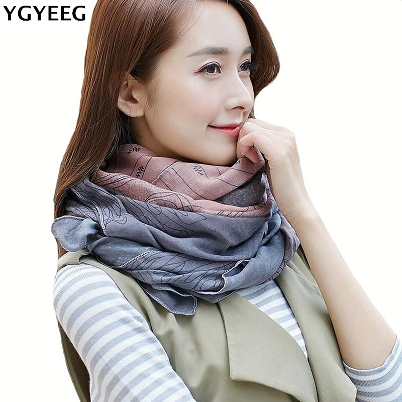 YGYEEG 2018 Autumn Winter   Scarf   Women Striped Cotton Linen Scarfs Vintage Shawls And   Scarves     Wrap   Good Quality Drop Shipping