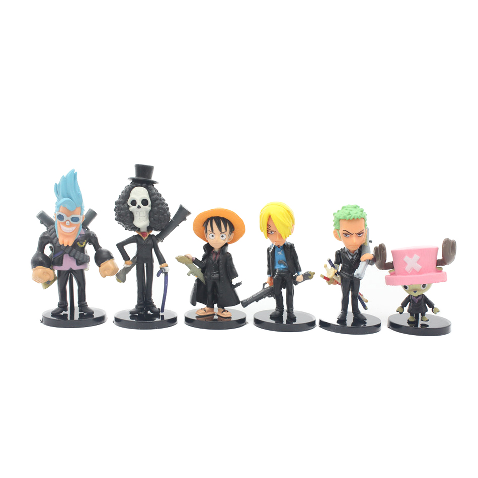 Chanycore Black version 8CM 6pcs/set One Piece New World Anime Figuarts SPECIAL MH POP Luffy Figuarts zoro nami Action Figure