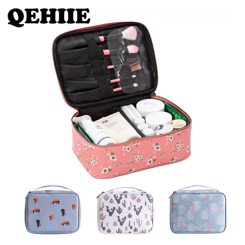 Cosmetic-Bag Travel-Organizer Beauty-Case Flamingo-Pattern Waterproof Fashion And Print