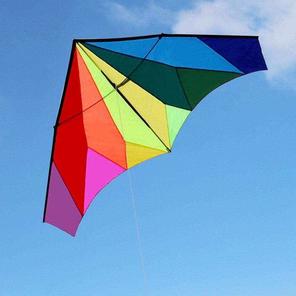 Cerf-volant volant en forme de Delta énorme coloré avec ligne volante de 30 m jardin de plage en plein air pour enfants adultes - 2