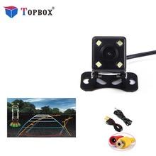 Topbox 4 Led задние фонари камера ночного видения HD Автомобильная камера заднего вида широкий угол обзора Реверсивный помощник парковки резервная камера s
