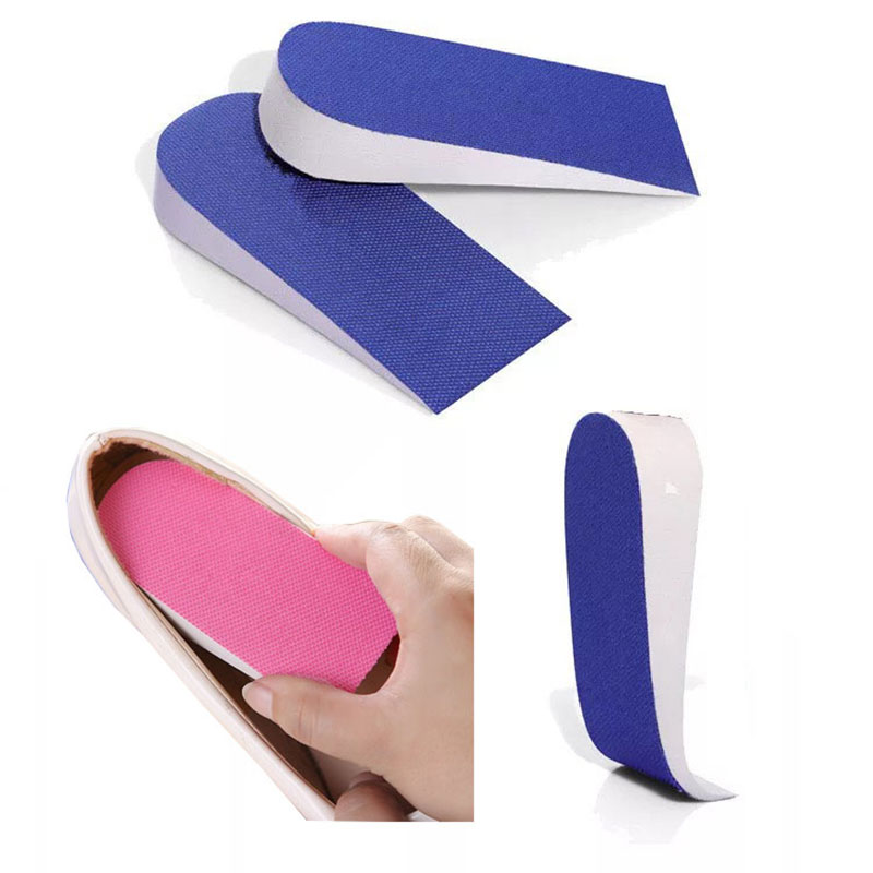 2.5 Cm Height Insoles Women Invisible Increase Pad Heel Raisers Lifts For Shoes Comfortable Breathable Shoe Pads Height Inserts