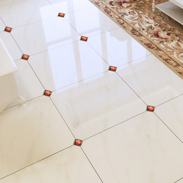 Tile Stickers Self Adhesive Seams Living Room Floor Tiles Decorative Kitchen Bathroom Wall Surface