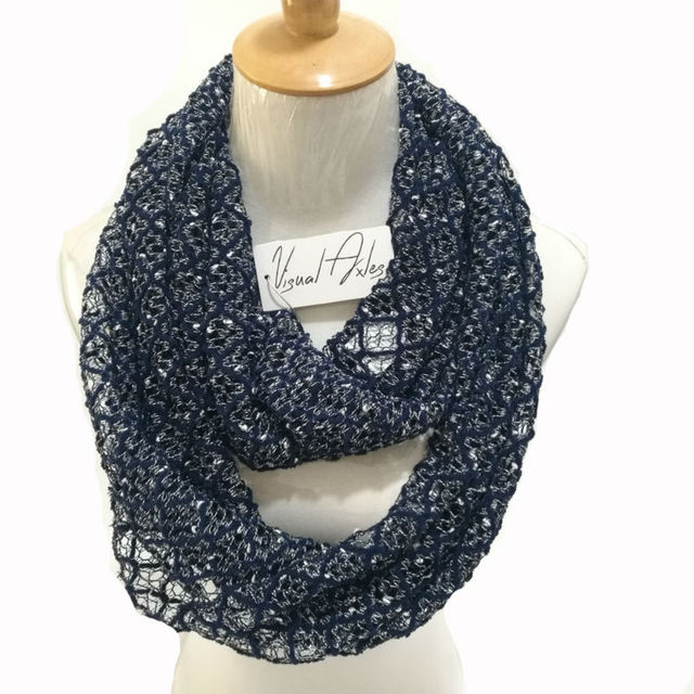 Visual Axles Knit Infinity Scarves Women Autumn Winter Luxury Snood