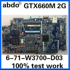 6-71-W3700-D03 for Shenzhou K590S K790S clevo W370ET W350ET Notebook Motherboard PGA988 HM77 GTX660M 2G DDR3 100% Test Work(China)