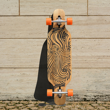 KOSTON pro dancing style longboard completes with bamboo & canadian maple mixed ,40inch long skateboard set for board walking