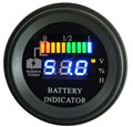 Ronda LED Indicador de descarga de Batería calibrador Digital contador de horas de estado de carga carretilla elevadora, EV, 12 V 24 V 36 V 48 V 60 V hasta 100 V