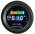 Round LED Digital Battery gauge discharge Indicator hour meter state of charge forklift, EV, 12V 24V 36V 48V 60V up to 100V