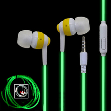 Glowing Ear Earphones With Microphone For PC Funny Luminous In Ear Earphone Wired Flashing Headset For